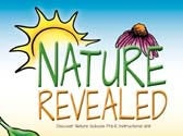 Nature Revealed cover detail with a sun and coneflower